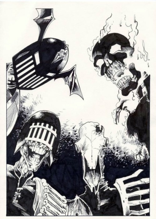 Veteran art droid Ian Gibson's take on the four Dark Judges.