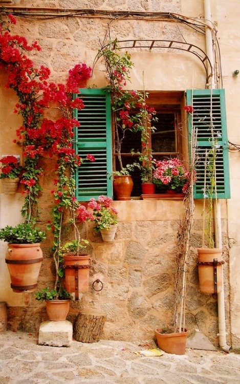 Green Shutters, Mallorca, Spain photo via josie