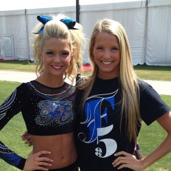f5twisters:  scorpions-and-sportsbras:  bows-and-pros:  iliveforcheernotforyou:  marylandtwisters:  divas-queens-f5:  My fave sisters  kels & tay  omg they are so pretty  omg they look identical   i scrolled past this and i hat do go back up because i thought someone photo shoped 2 kelseys into it!!!  they could be twins omg