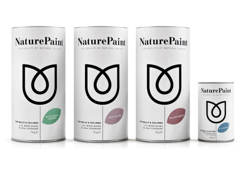 Packaging ecológico         Naturepaint pintura de ingredientes únicamente naturales, incluye arcillas y pigmentos locales. Diseño de B&B Studio Find more: Blog del Diseño