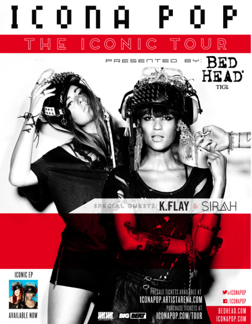 Icona Pop @ The Ritz YborSunday, August 18th 2013Doors: 7:00PM Tickets: $19.50 Adv / $22 Day Of  Tickets On Sale tomorrow at 10AM!