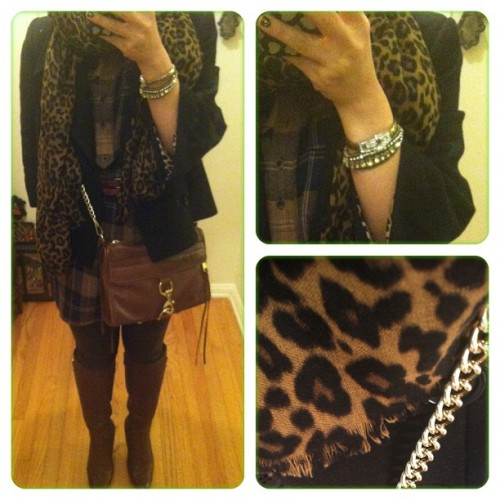 #animalprint & #leather were meant to be together #ootd #outfit #wiwt #fashion #fashiondiaries #style #photooftheday #instagood #instadaily #iphoneonly  (at Chloe + Isabel by Liz)