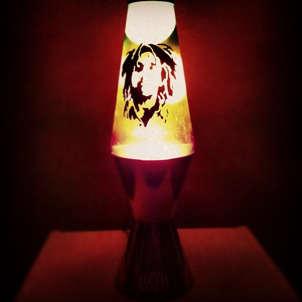 @codynsd thought he was being funny by getting me a #bobmarley lava lamp for xmas… makes a great night light, mon.