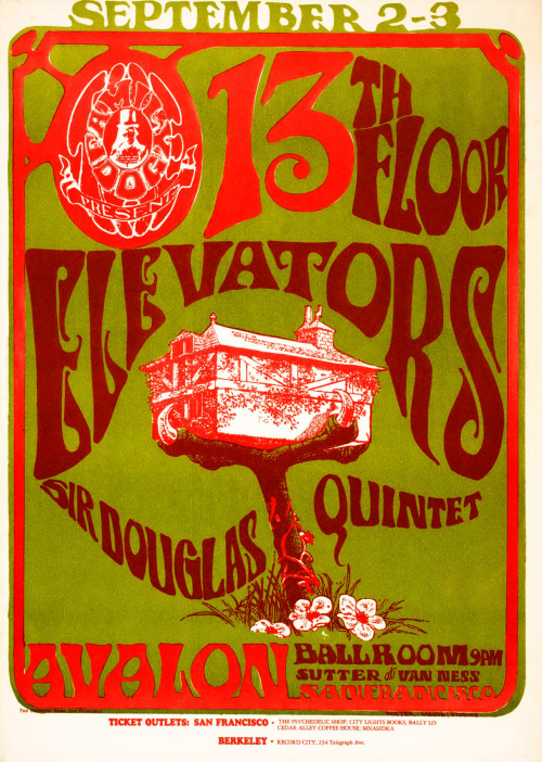chrisgoesrock:  Sir Douglas Quintet & 13th Floor Elevators - Poster 1966