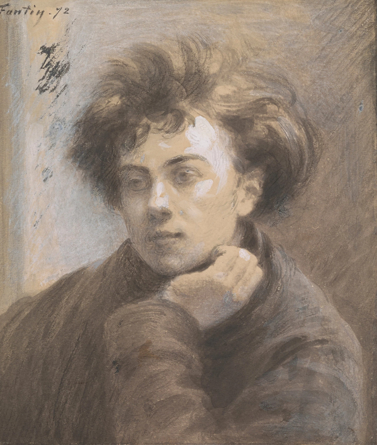 Henri Fantin-Latour, Portrait of Arthur Rimbaud, 1872