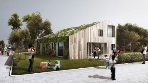 mothernaturenetwork:  A green abode that conceals freight container framework    Meet the WFH House, a shipping container home with a green roof, photovoltaics, abundant natural daylighting and a bamboo facade that prevents it from looking like a shipping container home at all.