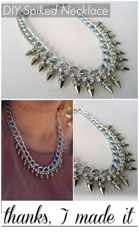 truebluemeandyou:  DIY Mawi Inspired Spiked Crystal Chain Necklace Tutorial by Thanks, I Made It for Rachel Zoe's The Zoe Report here. If you read my blog you know how much I love Erin's blog: Thanks, I Made it - so CONGRATULATIONS Erin for being featured on Rachel Zoe's blog! You more than deserve this! You could buy the original for $830 here, or follow Erin's very easy to follow tutorial on The Zoe Report.