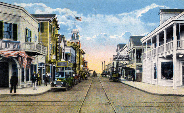 oldflorida:  Corner of Duval & Caroline, Key West. (via Florida Keys—Public Libraries on Flickr)