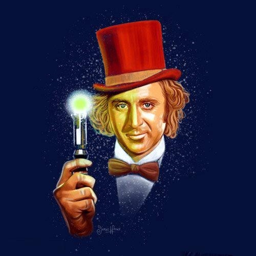 Checkout this super cool Doctor Who/Willy Wonka crossover pic!!