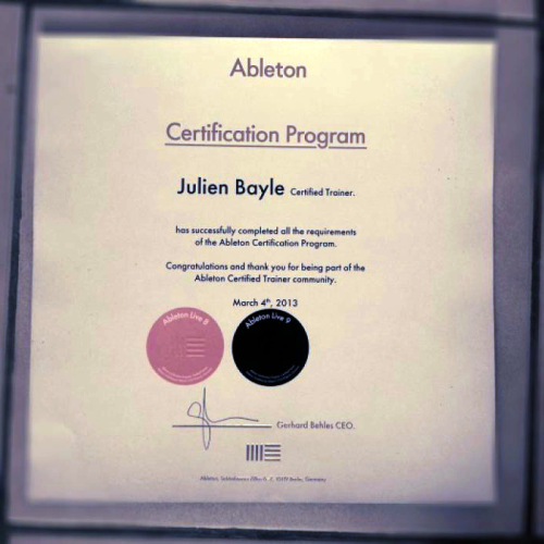 #Ableton #Certification Live 8 & #Live 9 just received ! Check my courses to learn everything about LiveView Post