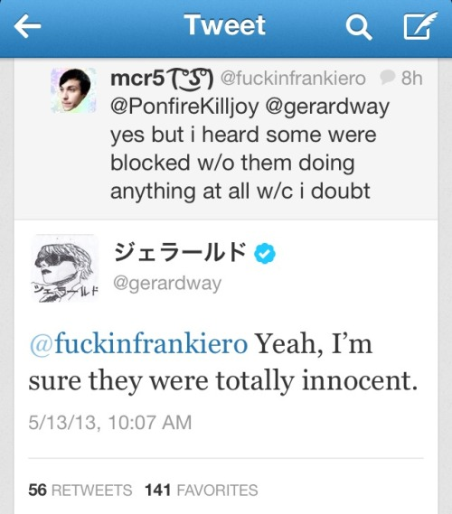 Gerard being sassy with me