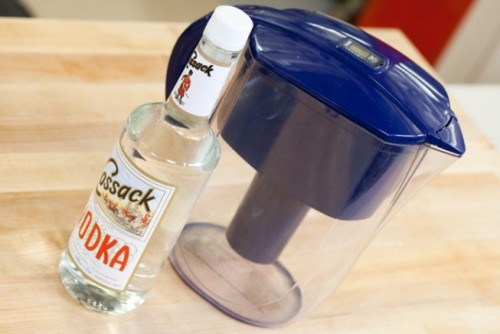 Planning a big party for tomorrow? Turn inexpensive vodka into a premium-tasting spirit with our simple trick. http://bit.ly/TXrh0a