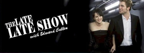twilight-fanfiction:  The Late Late Show With Edward Cullen | chartwilightmom Bella is a famous actress and Edward is a host of a late night talk show. What do they whisper to each other when they greet each other on stage?     Pairing: Edward/Bella Category: Romance Rating: M Status: Complete