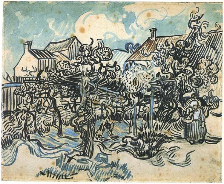 Vincent van Gogh Watercolor, Pencil and wash on paper Auvers-sur-Oise: 25-May, 1890 Van Gogh Museum, Amsterdam