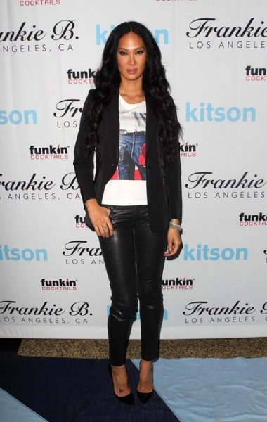 #werkKimora Lee Simmons at the Get Festive with Frankie B event at the Kitson Studio in West Hollywood last night.
