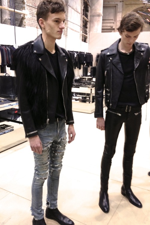 hauterevue:  bostonroll:  Saint Laurent Paris fall 2013 showroom  Skinny Nigga Pretty Flacko !