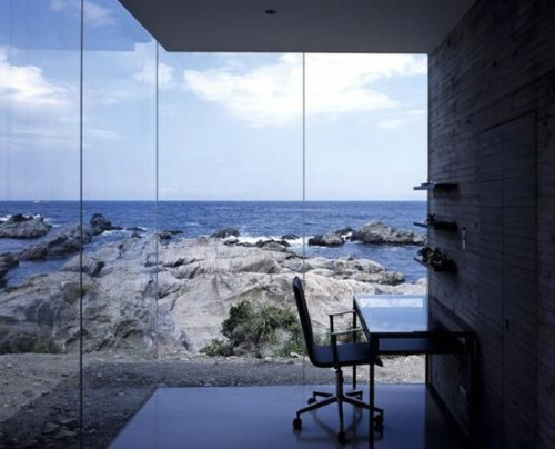 Quiet office space by the sea.