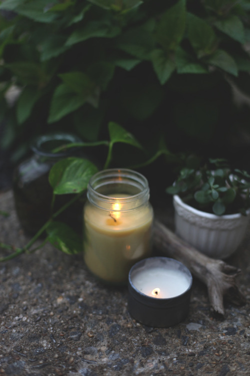 DIY citronella candles via Free People