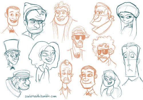Head doodles.