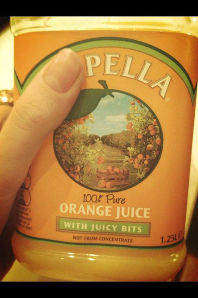 We're definitely just like Orange Juice but with juicy bits.