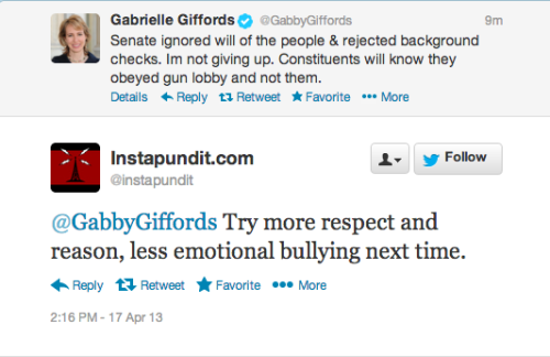 The woman who got shot in the face is a bully. Ok.