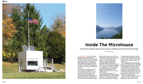 A feature about the growing trend for tiny homes for Soho House magazine.