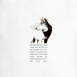 likethewater:  meeras-reed:  the wolves will come again | a fanmix about the stark kids | listen  i. winter - daughter ii. daniel in the den - bastille iii. bones - ms mr iv. wolf - first aid kit v. sorrow - the national vi. to build a home - the cinematic orchestra vii. no sound but the wind - editors viii. 3055 - ólafur arnalds ix. remain nameless - florence + the machine x. stop crying your heart out - oasis xi. hopeless wanderer - mumford & sons xii. youth - daughter xiii. seven devils - florence + the machine xiv. coming home (solo) - skylar grey xv. the train - james newton howard xvi. uprising - muse   I discover new music through fan mixes these days.