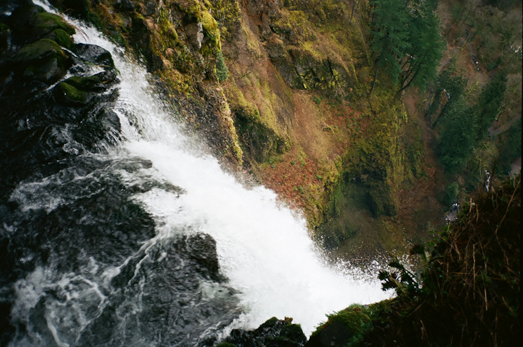 delisandwich:  Multnomah Falls - Portland, OR • Deli Sandwich From the very top looking down. About a mile and half hike.