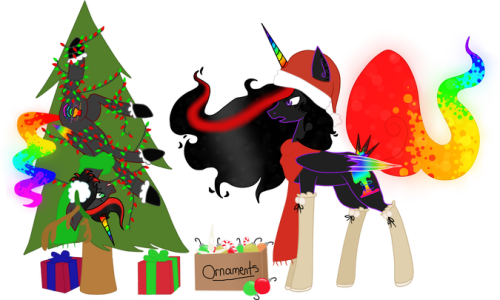 Merry Christmas Everypony! A Commission from MonsterTurtle on DA.