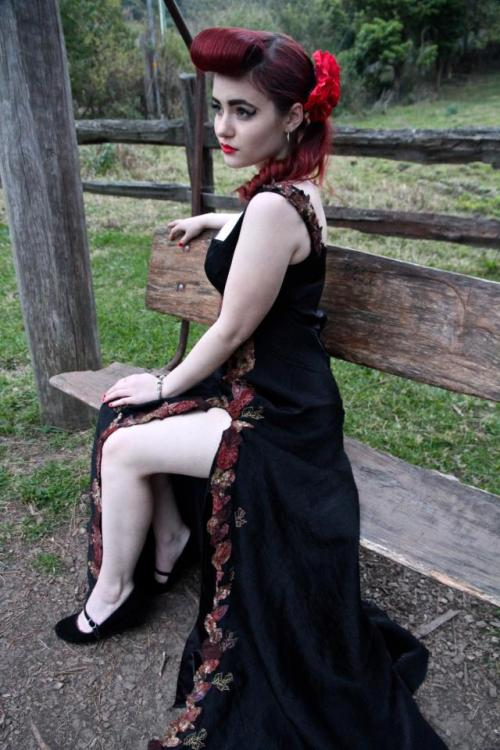 princesspinups:  PALE. Credit: Photography- Will Edgar. Dress design- Ruby Maloney.
