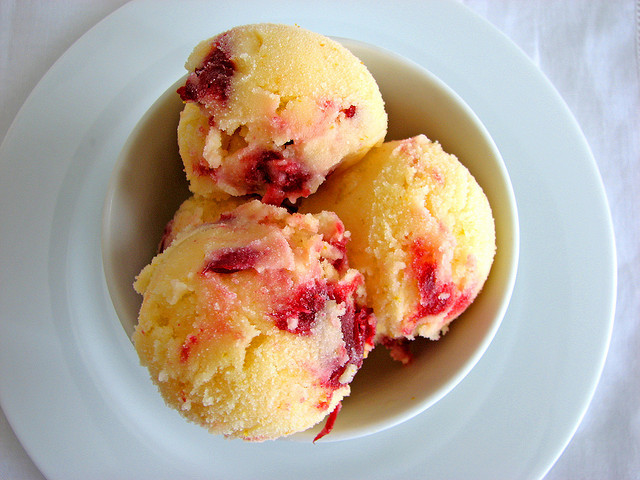 forevernomz:  Tangerine Cranberry Sherbet by pastrystudio on Flickr.