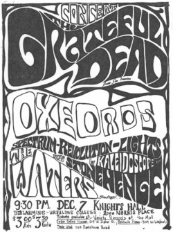 "fuckyesgratefuldead:  Bellarmine College, Louisville Kentucky, 12/07/68 Beautiful audio of a beautiful show, thanks Bear.  Forget the hours, whatever that means… Good advice, I'd say.  Also dig the gentle strains of the only live Rosemary (listed as ""unknown"" in Deadbase; this recording only came to light in 2006).  Also, never before have I thought ""And We Bid You Goodnight"" sounded like street-corner doo-wop.  But here it does.  This is a lovely show, if frought with some technical difficulties (which leads to some fun, if frustrated banter).  I'd recommend dialing it up while you watch the Tigers slam the Yanks."
