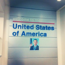 Hello Obama, and hello freedom of speech. #latergram #LAX