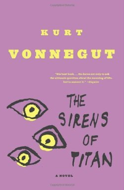 The Sirens of Titan, Kurt Vonnegut (M, 30s, bright red ski cap, black jeans, olive canvas messenger bag, L train) http://bit.ly/11I6Zls