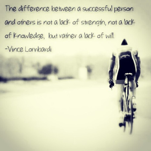 Some Saturday night inspiration.    #inspire #motivate #quote #cycling #vince #lombardi