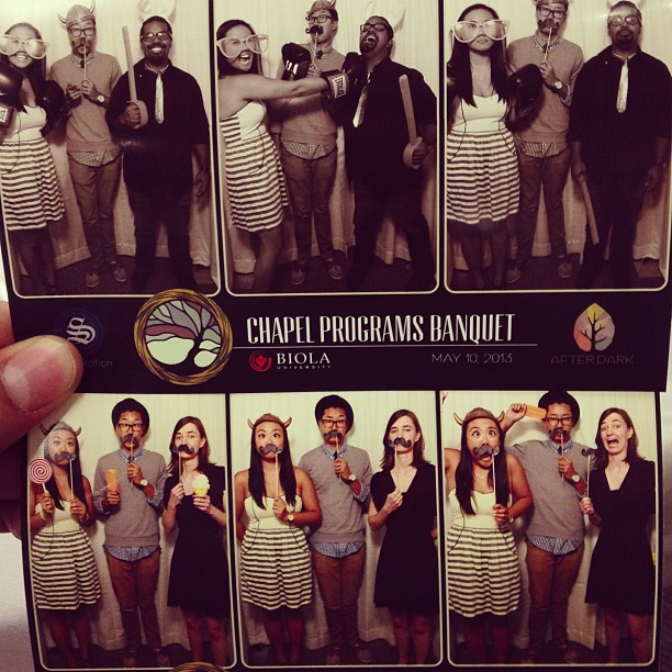Chapel Banquet #photobooth #fun #goofy #band  (at Caf Banquet Room)