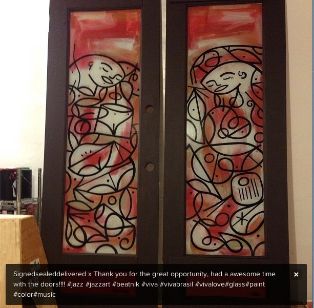 Some awesome doors painted by artist Greg PNUT Galinsky who has been an artist at many live Vans events hand painting and customizing bags and shoes.