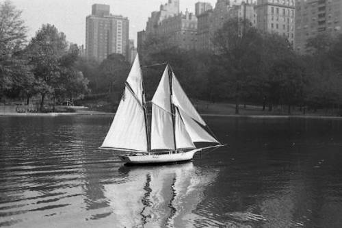 """ Schooner ""  ….  Pond in Central Park, NYC  [1968]"