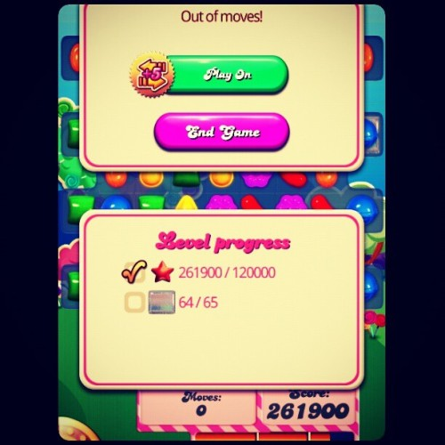 The wtf moment. Level 65 in #candycrush fuuuuuuuu!!!