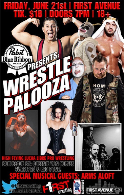 Just Announced: WRESTLEPALOOZA II in the Mainroom on Friday, June 21 (7pm/18+). On sale Friday at Noon here.
