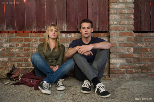 Britt Robertson and Dylan O'Brien as Aubrey Miller and Dave Hodgmen in The First Time (2012)