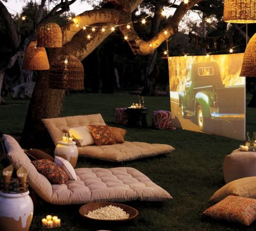 homedesigning:  Outdoor Cinema