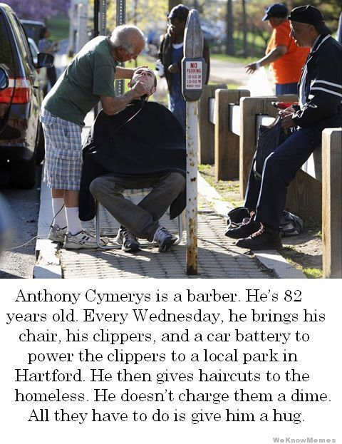 Good Guy Barber Anthony Cymerys  THESE ARE THE THINGS THAT MOTIVATE HIGHER CALLING….