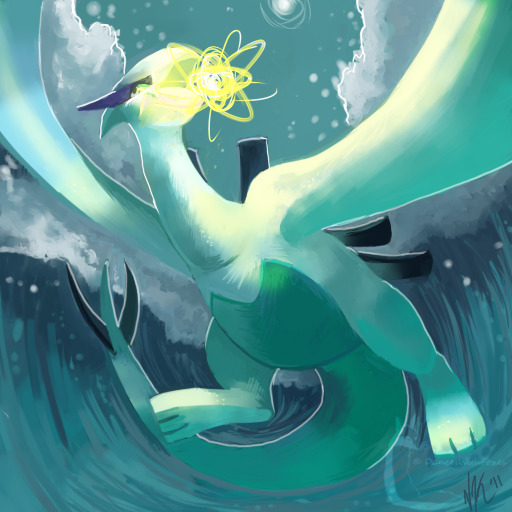 pokemonfourever:  Lugia by ~DancesWithFoxes
