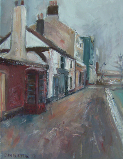 Westgate End Bookshop Wakefield My painting by Captain Wakefield on Flickr. oil 40cm x30cm My Parents Bookshop 166 westgate Wakefield West Yorkshire art townscape walls chimneys