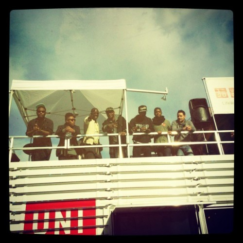 Me and my students chillin with the big homie @bkbmg on the #Uniqlo truck @adobeyouthvoices @urbanarts @armandosomoza