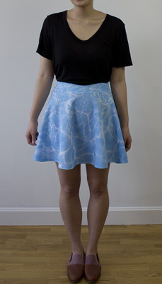 possibleworldsclothing:  Dive In Skirt Wear this on the beach for double the fun.