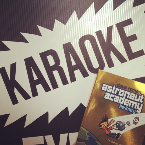 #astronautacademyday isn't over yet! Let's go karaoke! What songs should we sing?
