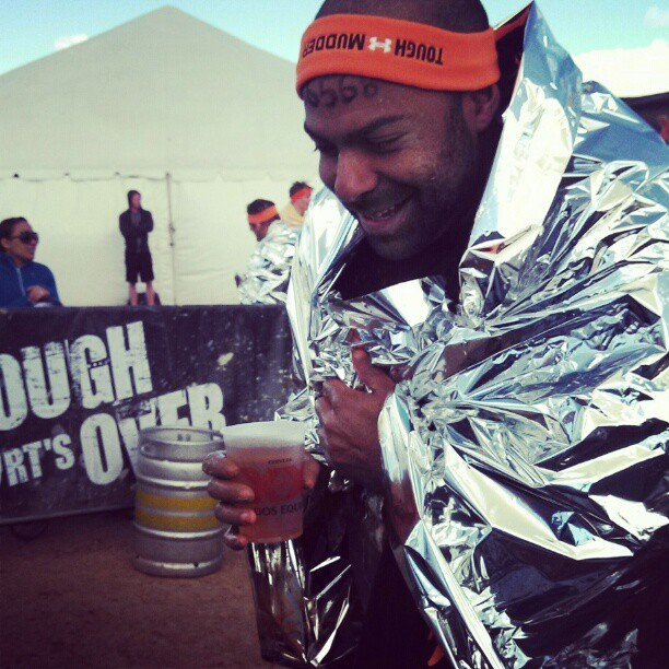 That was a whole lot of work for one free beer! #toughmudder #fit #fitlife #beer #cantstopwontstop #nike #cold #fun