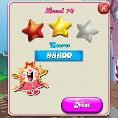 Candy Crush Saga…really cool and addictive game. I just downloaded and started playing this game tonight and already I can't put it down.